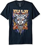 True Religion Men's Wolf Graphic Short Sleeve Tee, Navy L