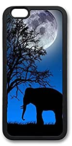 iPhone 6 Cases, Personalized Custom Soft TPU Black Edge Case Cover for New iPhone 6 4.7 inch Elephant Blue
