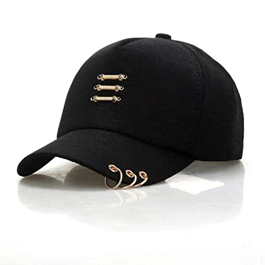 Xuzirui Dad Hat Kpop Iron Ring Cap Women Baseball Cap with Rings Snapback Hip  Hop Hats 856dc35e4