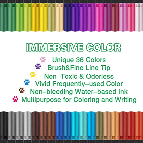 Buy brush markers for coloring