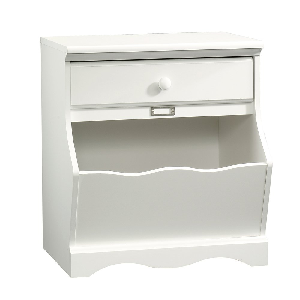 Sauder Pogo Night Stand, Soft White Finish 414433