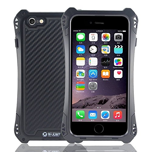 iPhone 5 SE Case,Kinglc R-just Waterproof Shock Proof Dirt Proof Gorilla Glass Aluminum Rubber Black Metal Case Cover Protective Armor Defender for iPhone 5 SE Black