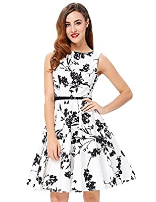 198ba3004b4c1b View GRACE KARIN BoatNeck Sleeveless Vintage Tea Dress with Belt at ...