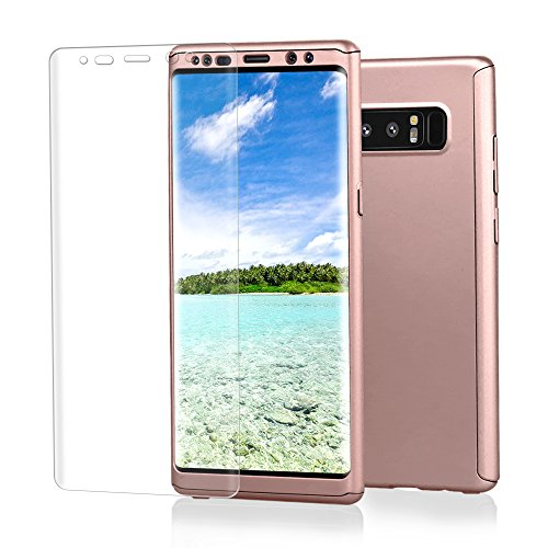 - Samsung Galaxy Note 8 case, VPR 3 in 1 Ultra Thin Full Body Protection Slim Hard Premium Luxury Cover Shock Absorption PC [With TPU and Film Screen Protector] case for Note 8 2017 (RoseGold)
