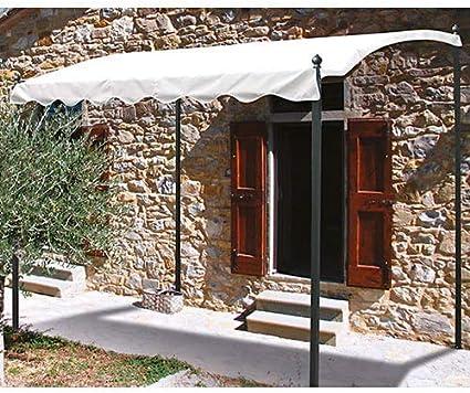 bertozzi Gazebo pérgola de jardín 2 x 3 m Estructura de Hierro – Tela Color Blanco