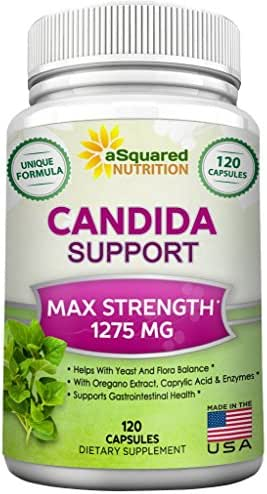 Pure Candida Cleanse Supplement - 120 Capsules - Natural Candida Support & Detox Complex with Probiotics, Herbs & Antifungals, Best Treatment Pills to Clear & Remove Yeast & Overgrowth