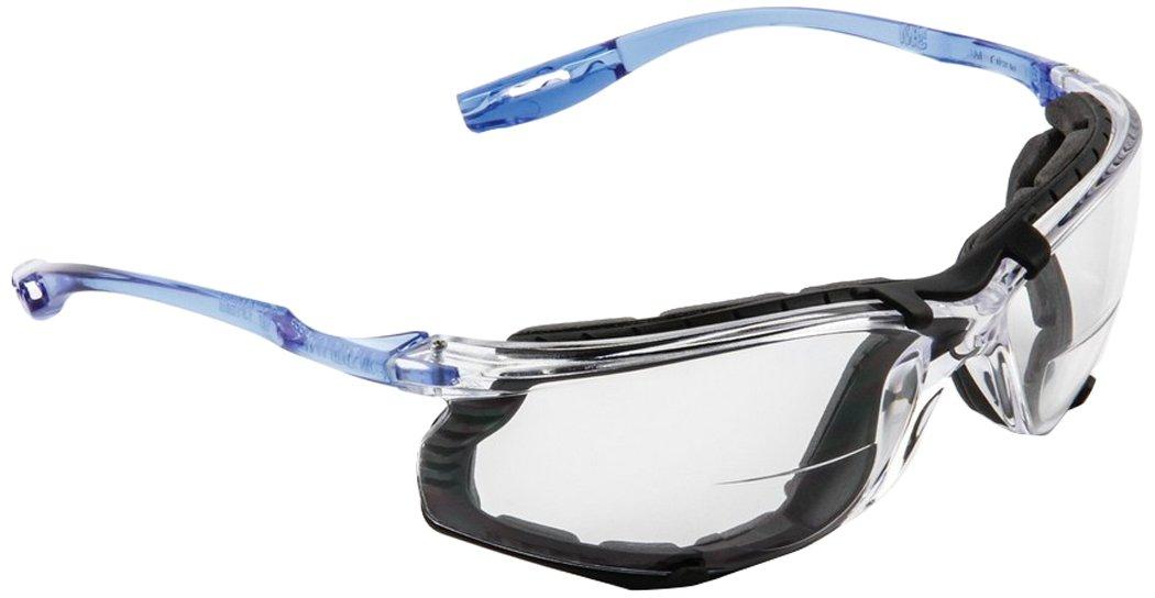 3M 10078371662704Virtua CAC gafas de protección con espuma de juntas y lector lente, estándar, azul con lente transparente