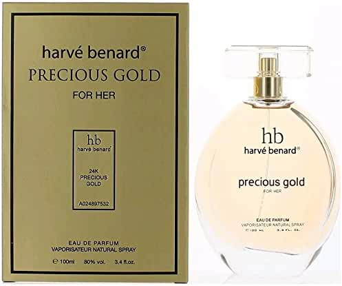 Harv Bernard Precious Gold Eau de Parfum Spray for Women, 3.4 Ounce
