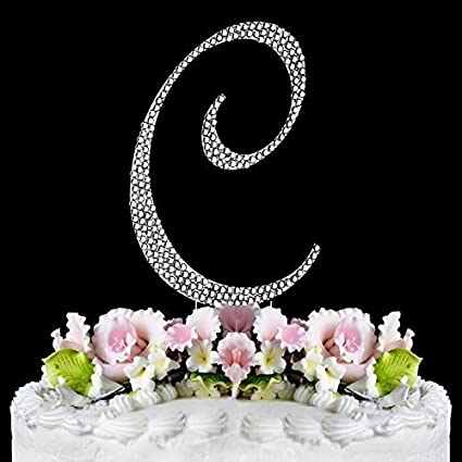 Amazon rhinestone cake topper letter c kitchen dining rhinestone cake topper letter c junglespirit Image collections
