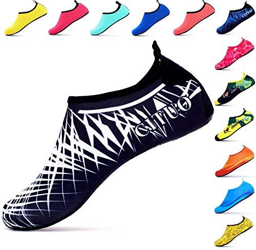 Giotto Sports Water Shoes Nuotare Yoga Beach Aqua Calzini Per Donna Uomo Croce / Bianco