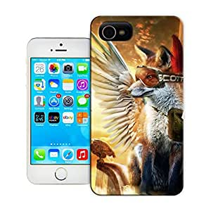 niucase personal flying fox pilote hard case Tpu material for Iphone4