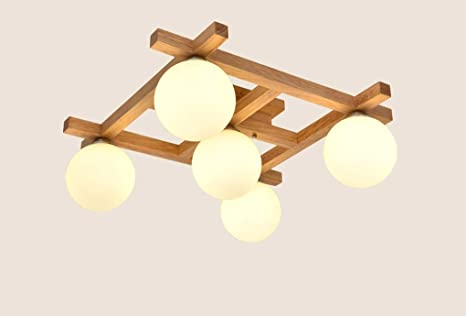 Plafoniere Giapponesi : Zhangrong plafoniere per bambini soffitto in legno nordic