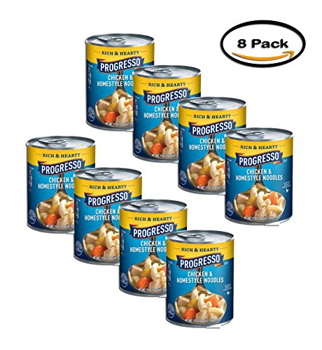 PACK OF 8 - Progresso Chicken & Homestyle Noodles Soup, 19 (Progresso Chicken Soup)