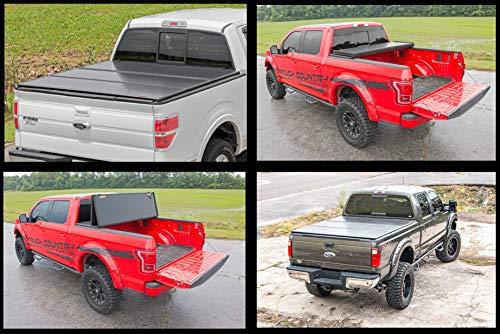 Rough Country Hard Tri-Fold Fits 2019 [ Chevy ] Silverado [ GMC ] Sierra 5.8 FT Bed Truck Tonneau Cover 45308550
