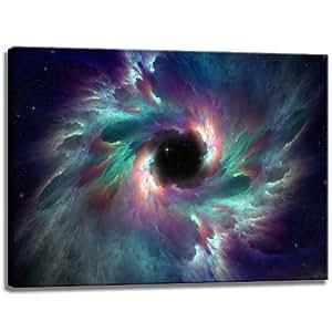 Cuadro abstracto universo en formato lienzo 80x60 cm for Universo del hogar