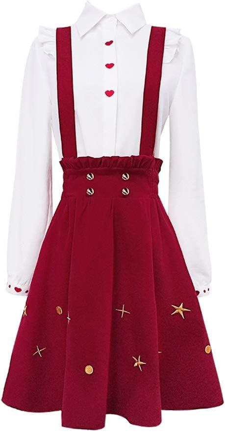 DRESS Vestido de Moda de Manga Larga para Mujer, 2 Piezas, Camisa ...