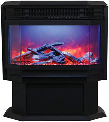 Free Standing Sierra Flame Electric Fireplace Stove By Amantii Home Kitchen