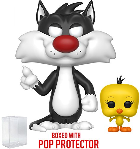 Funko Pop! Animation: Looney Tunes - Sylvester and Tweety Vinyl Figure (Bundled with Pop BOX PROTECTOR CASE)