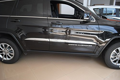 Highitem 4PCS Auto Body Door Side Molding Trim Stainless steel Chrome For Jeep Grand Cherokee 2014-2016
