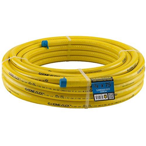 HomeFlex 11-00775 3/4-Inch x 75-Feet Corrugated Tubing, Stainless Steel