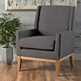 Grey Accent Chair Archibald | Mid Century Modern Fabric Accent Chair | in Grey