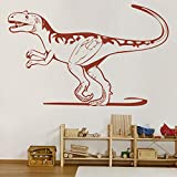 yaunor Dinosaur décor Alectrosaurus World Jurassic Dinosaur Wall Sticker Dinosaur Room Decor for Boys