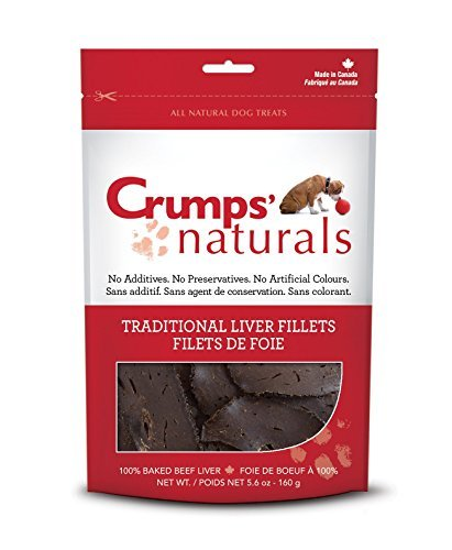 Crumps' Naturals Traditional Liver Fillets for Pets, 2.4-Ounce by Crumps' Naturals