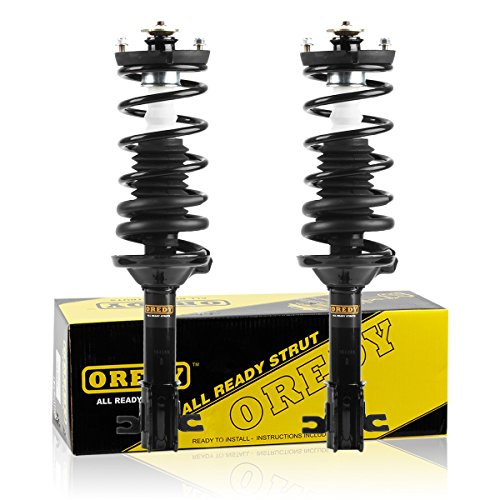OREDY Rear Pair Complete Struts Assembly Kit Shock Absorber 171880 15200 Fits for 1991 1992 1993 1994 1995 1996 Ford Escort Mercury Tracer 1990 1991 1992 1993 1994 Mazda 323 Mazda Protege - Ford 1991 Mercury Escort Tracer