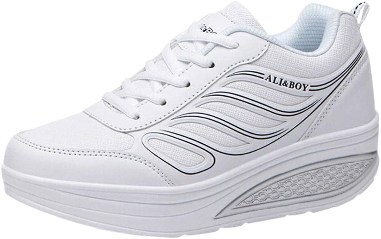 Zapatillas Deportivas de Mujer Blancas YiYLunneo Zapatos Parejas ...
