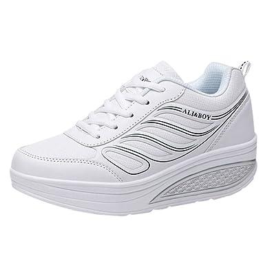 Zapatillas Deportivas de Mujer Blancas YiYLunneo Zapatos Parejas Senderismo Correr Shoes Zapatillas Al Aire Libre del Dedo del Pie Calzado De Trabajo: ...
