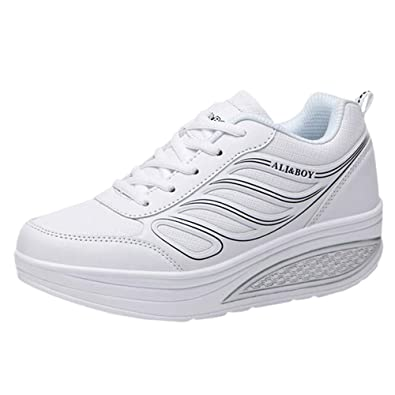 Beladla Zapatillas Deportivas Mujer Air Cordones Shoes Sneaker de Running Fitness Sneakers Zapatos Deporte para Correr Trail Fitness Sneakers Ligero ...