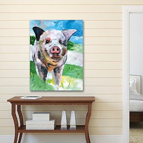Pig Print (Portfolio Canvas Decor NCF4532 canvas Print Wall Art -