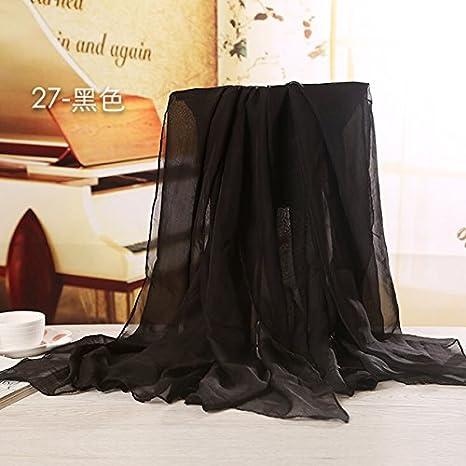 YRXDD Color puro sunscreen pañuelo de seda, nieve spinning toalla ...