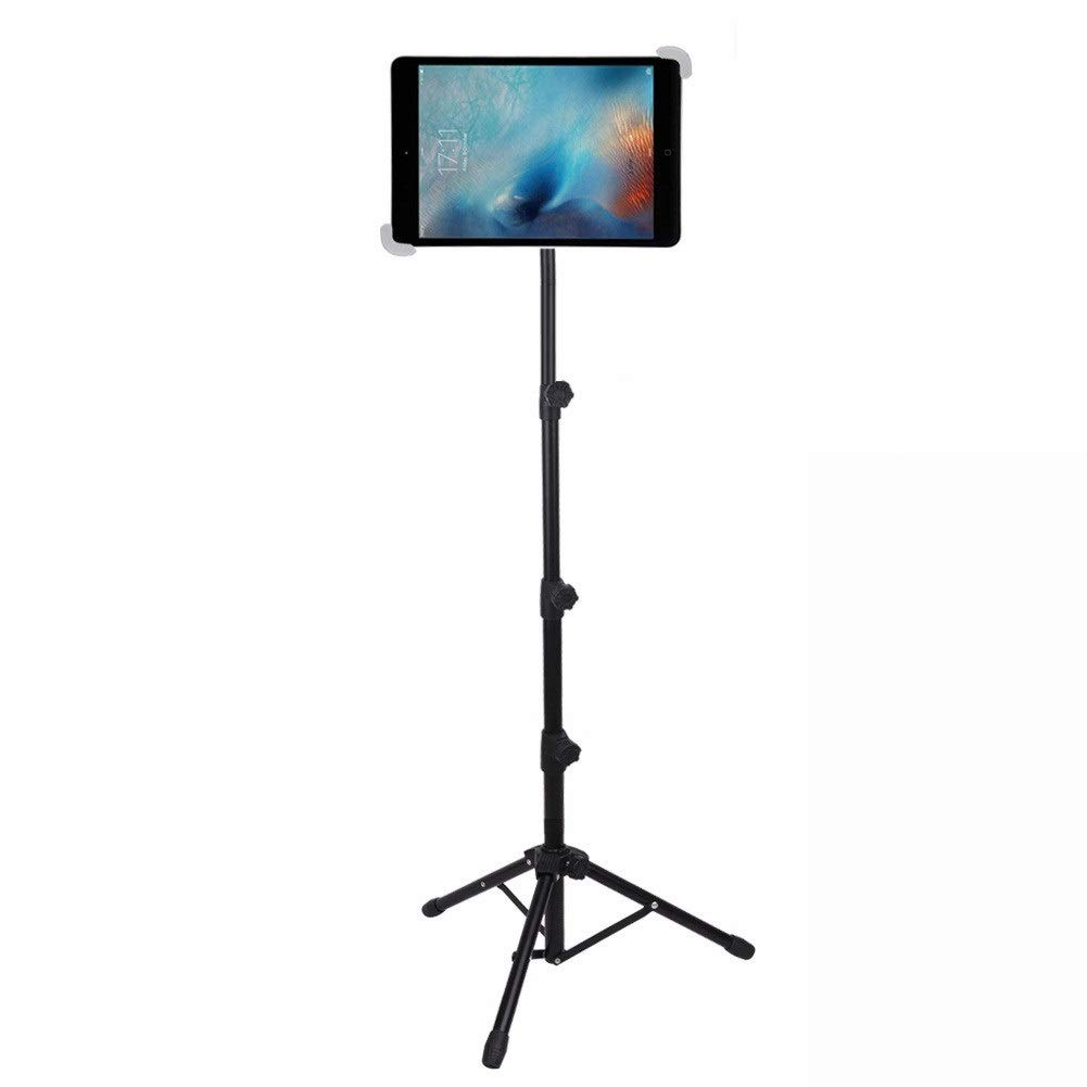 iPad Tripod Stand, LetsRun Height Adjustable Foldable Floor Tablet Tripod Stand for iPad Mini, iPad Air, iPad 1,2,3,4 and All 8-12 Inch Tablets, Carrying Case as Gifts (White) by LetsRun