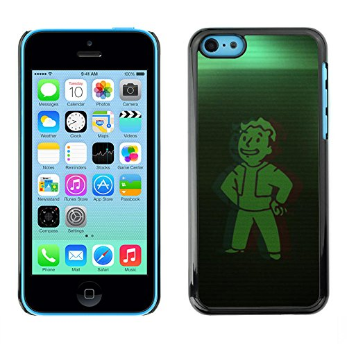 Hard PC Protective Case Smartphone Case Cover for iPhone 5C // Green Vault Boy // CooleCell