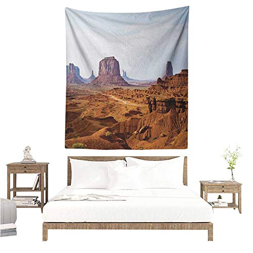 (Tapestry Wall Hanging 3D Printing Desert Monument Valley View from John Fords Point Merritt Butte Sandstone Image 54W x 84L INCH Suitable for Bedroom Living Room Dormitory)