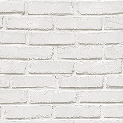 Rustic Brick Wallpaper - White - 575319