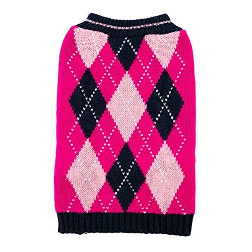 TOP PAW Pink Argyle Dog SweaterXS