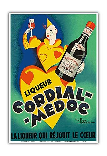 Cordial Médoc Liqueur - The Liquor Which Rejoices the Heart - Bordeaux, France - Vintage Advertising Poster by Henri Le Monnier c.1930 - Master Art Print - 13in x (France Bordeaux Liqueur)