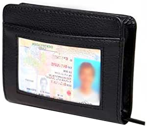 Credit Card//Passport Holder Leather Wallet Details about  /with 7 RFID Slots Theft Proof Men