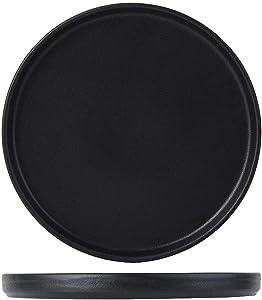 Tuxton China VBAS082 Zion Matte Black 8-1/4