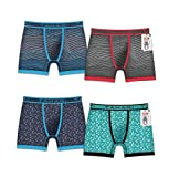 Tahari Men's Micro Modal Boxer Brief with Comfort Waistband 4-Pack Assorted Colors (Tag Less) Trunk