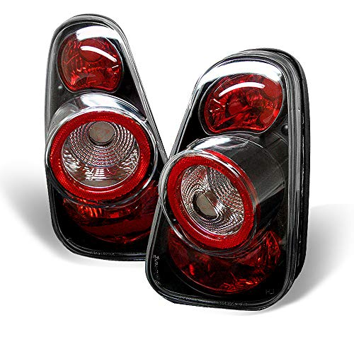 ACANII -For Black 2002-2006 Mini Cooper Tail Lights Rear Brake Lamps Taillights Taillamps Driver Passenger Side 03 04 05 (Cooper Tail Lamp Light)