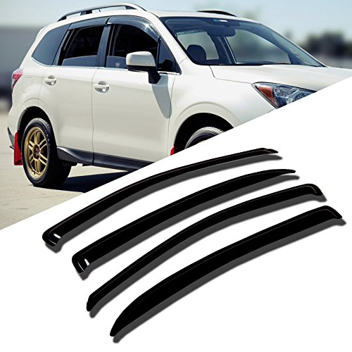 TuningPros WD-698 Tinted Smoke Out-Channel Window Visor Deflector Rain Guard 4-pc Set by TuningPros