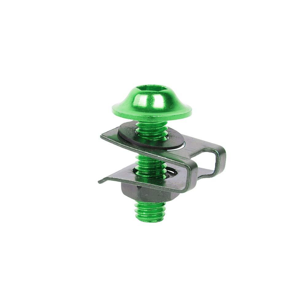 10 pezzi//set universale carenatura dadi e viti bulloni fissaggio clip accessori in alluminio moto m6 dado a vite moto metallo dadi e bulloni motos arancia