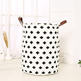 Unique Foldable Linen Cartoon Washing Clothes Laundry Basket Bag Hamper Storage