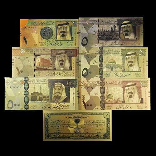 HENGTONGTONGXUN ホームデコゴールド紙幣偽のお金サウジアラビア紙幣コレクションギフト紙幣のための1から500リヤルゴールドメッキ紙幣を 使いやすい (色 : A)