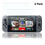 Nintendo Switch Screen Protector, Beilom Tempered Glass Screen Protector For 2017 Nintendo Switch [3D Touch Compatible] Screen Protector with [9H Hardness] [Crystal Clear] [Anti Fingerprint] [2 pack]