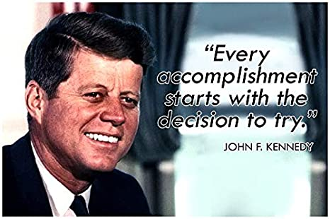 com jfk classroom quote poster decorations growth mindset