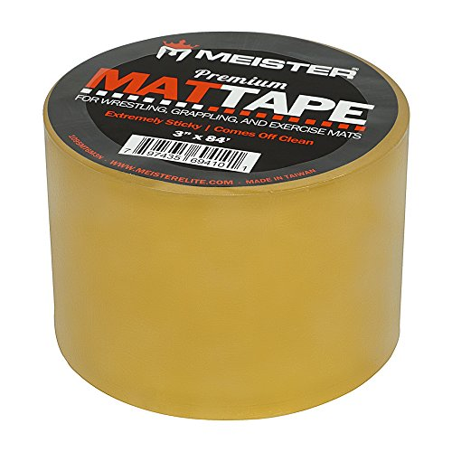 Meister Premium Mat Tape for Wrestling, Grappling and Exercise Mats - Clear - 3 x 84ft - 1 Roll